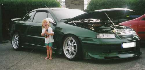 Calibra The green Hornet mit Töchterchen